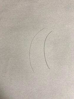 正常な髪の毛と細い抜け毛